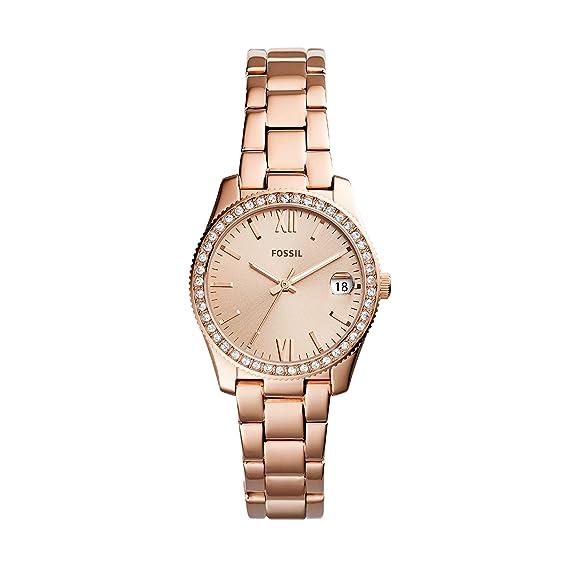 Fossil Reloj Analogico para Mujer de Cuarzo con Correa en Acero Inoxidable ES4318