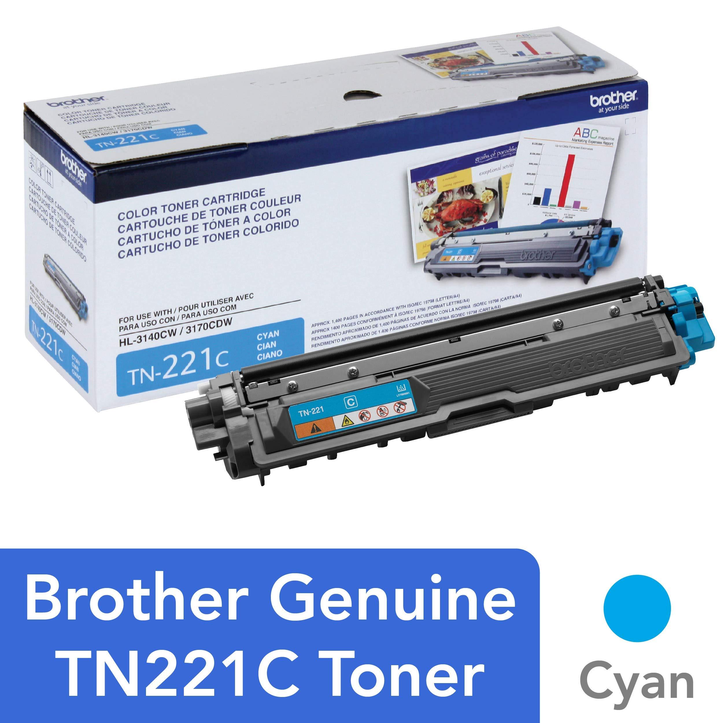 Toner Original BROTHER TN-221C DCP-9015 9020 HL-3150 3170 3180 MFC-9130 9140 9330 9340 (Cyan)