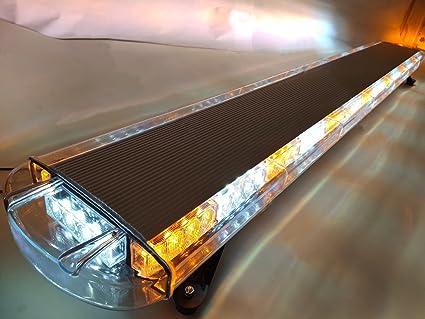 47 Inch LED Strobe Lightbar Warning Emergency Beacon Rooftop Tow Truck Amber 88W