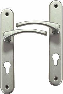 Poignée De Porte Du0027entrée Design En Aluminium Nickel Mat Sur Plaque Clé I  Entraxe