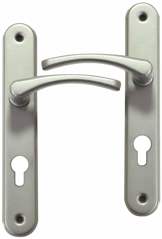 Charmant Poignée De Porte Du0027entrée Design En Aluminium Nickel Mat Sur Plaque Clé I  Entraxe