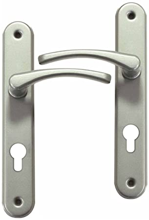 Poigne De Porte DEntre Design En Aluminium Nickel Mat Sur Plaque