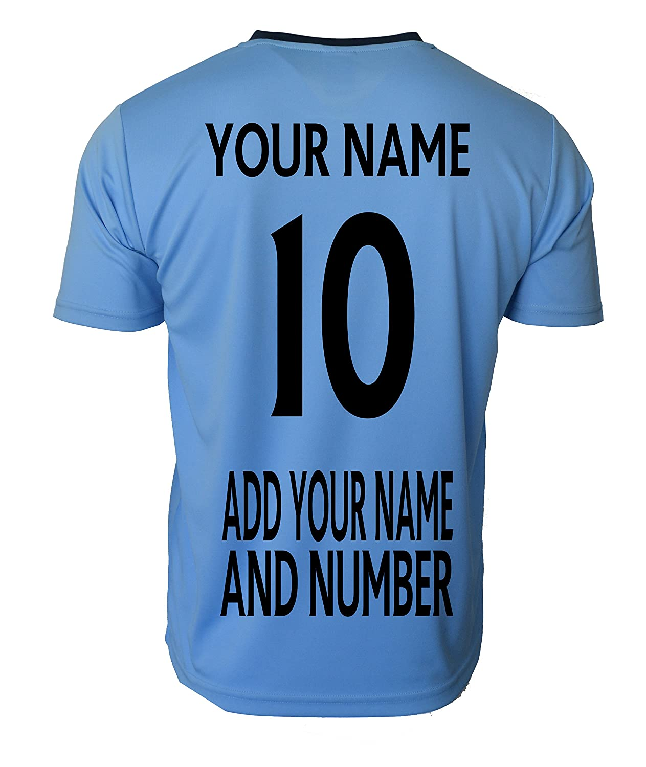 3220f506e7c Amazon.com   Manchester City Soccer Jersey Men s Adult Training Custom Name  and Number   Sports   Outdoors