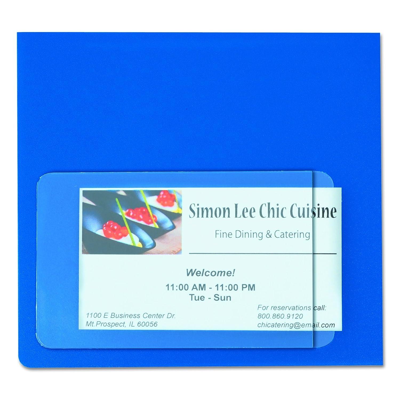 Amazon.com : C-Line 70238 Self-Adhesive Business Card Holders, Side ...