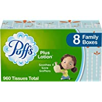 Deals on Puffs Plus Lotion Facial Tissues 8 Family Boxes 120 per Box