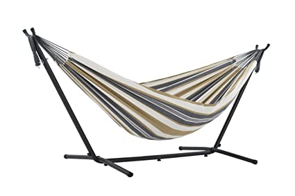 vivere double hammock with space saving steel stand desert moon amazon     vivere double hammock with space saving steel stand      rh   amazon