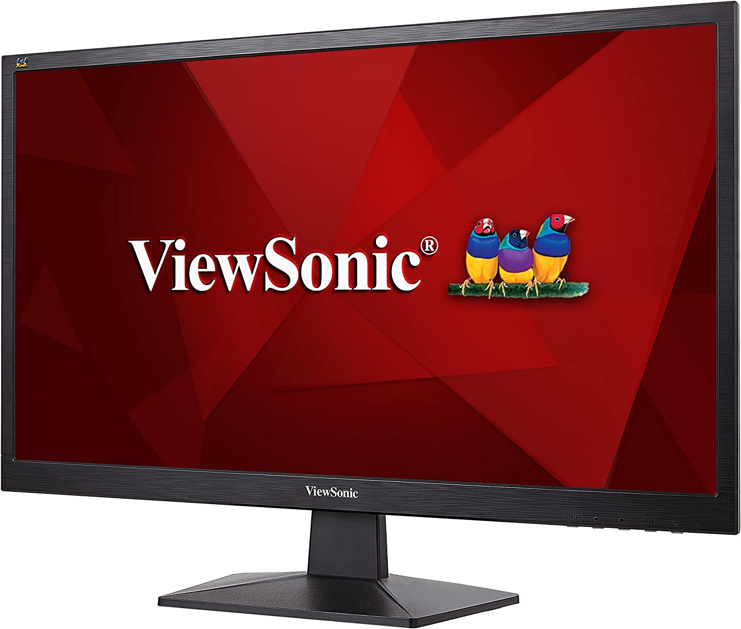 Schwarz Full-HD, HDMI, VGA, Eye-Care, Eco-Mode 24 Zoll Viewsonic VA2405-H 59,9 cm Monitor