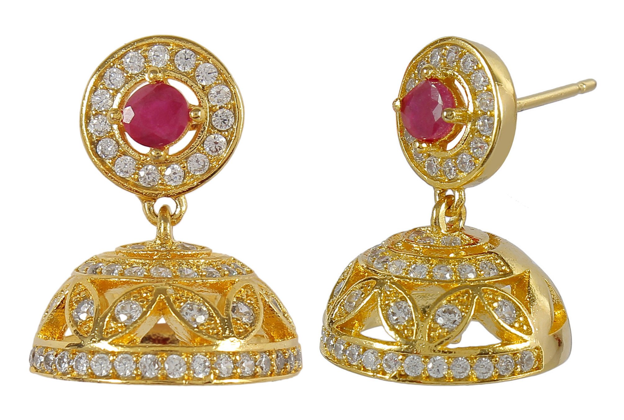 MUCH-MORE Amazing Bollywood Style Diamontick Cuff Earring Partywear Indian Jewelry (1003)