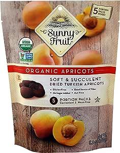 Sunny Fruit Organic Dried Apricots, 250g (SF-Apricot-1PK)