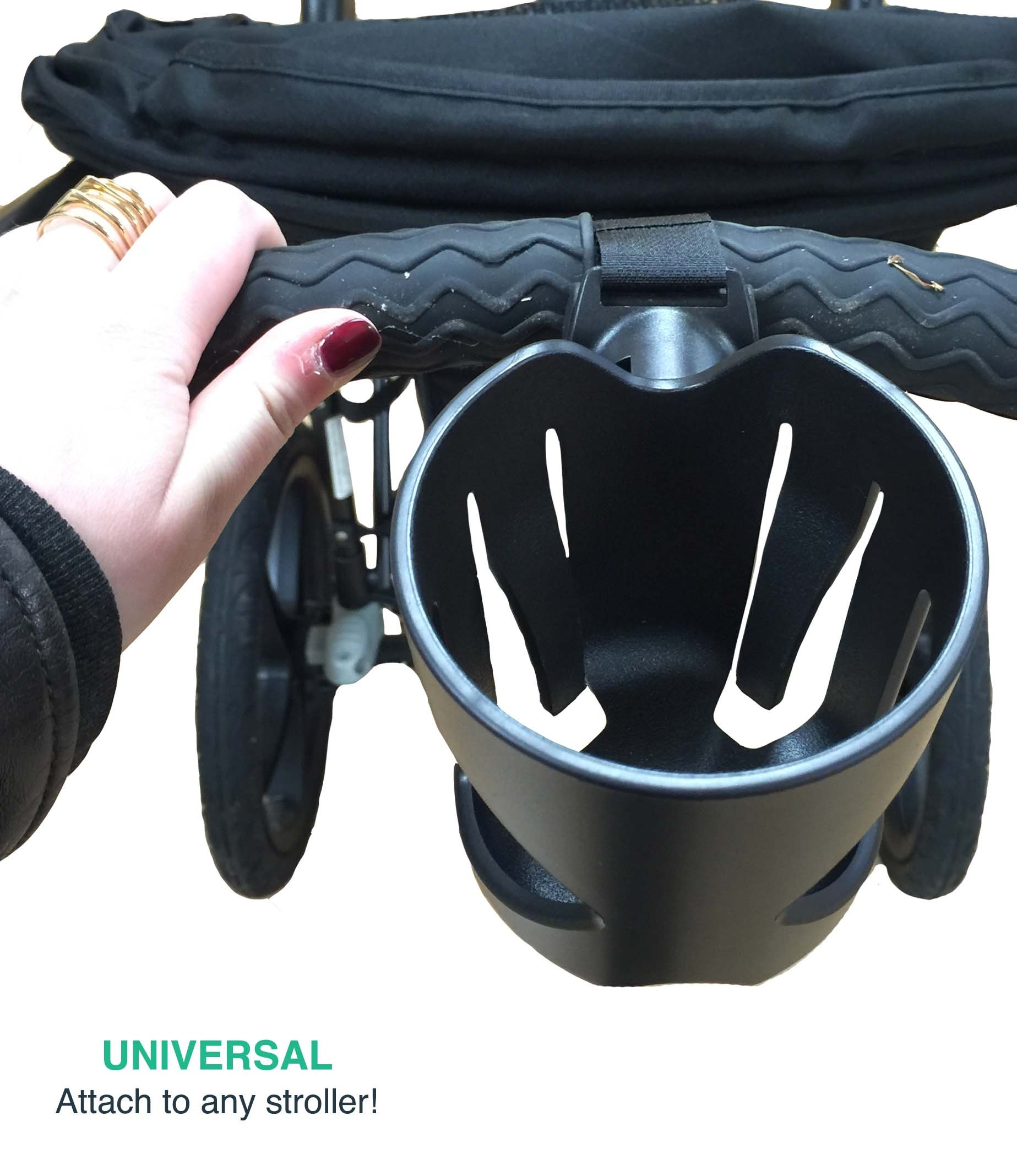Replacement for Universal Stroller Cup Holder, Fits BabyHome, Baby Jogger, Britax, Bugaboo, Bumbleride, Chicco & More, by Think Crucial by Think Crucial (Image #2)