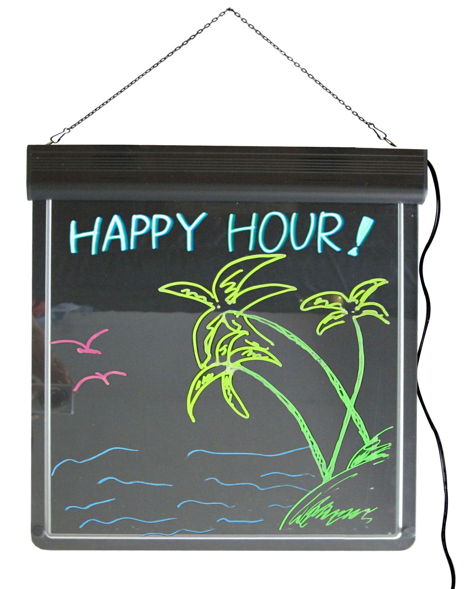 Lighted Writable Menu Board LED Message Board Display Billboard LED Sign 17 X 17 inches Magic