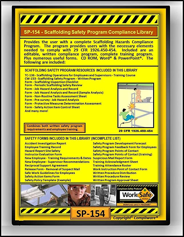 AmazonCom Sp  Scaffolding Hazards Safety Compliance Library