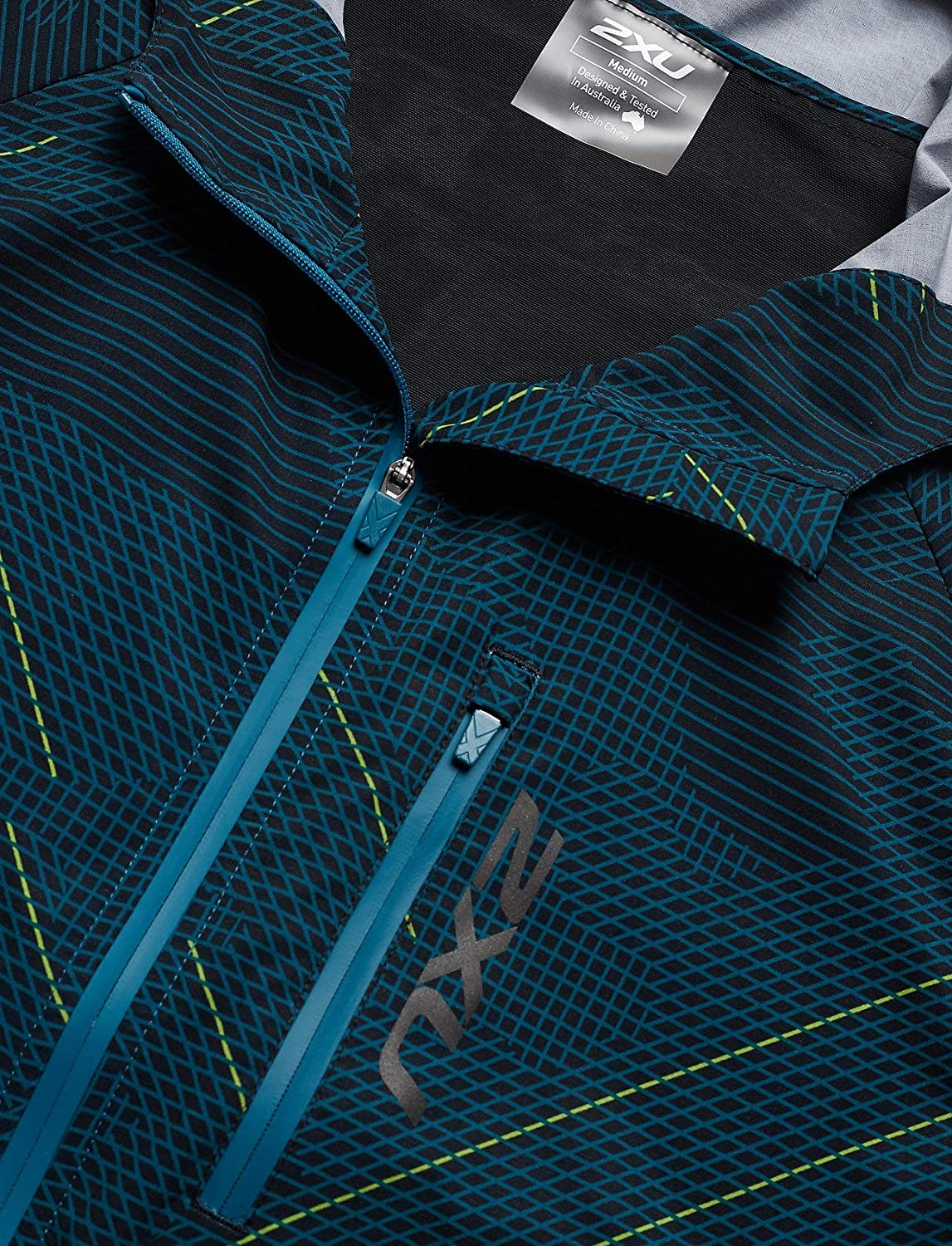 Linear Camo Large//Corsair P-2XU Mens GHST Woven 2 in 1 Jacket