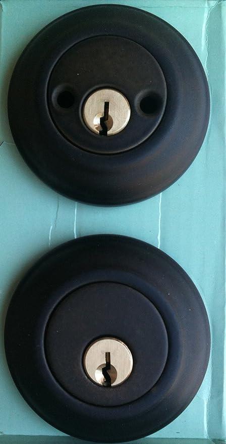PEGASUS Door Lock Set DOUBLE CYLINDER DEADBOLT Oil Rubbed Bronze ...