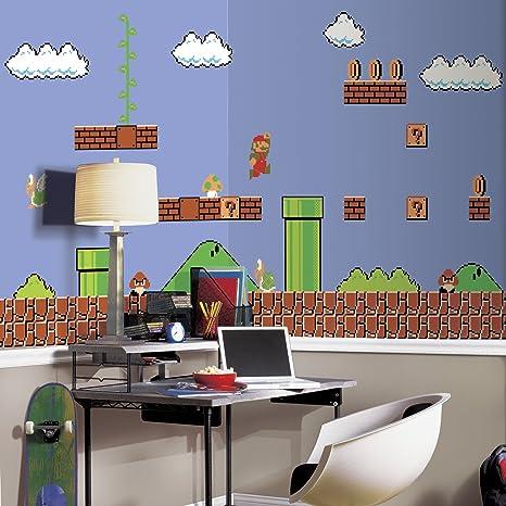 Heimwerker Tapeten & Zubehör Super Mario Wall Mural Wall Art ...