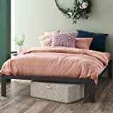 ZINUS Mia Metal Platform Bed Frame / Wood Slat Support / No Box Spring Needed / Easy Assembly, Black, Narrow Twin