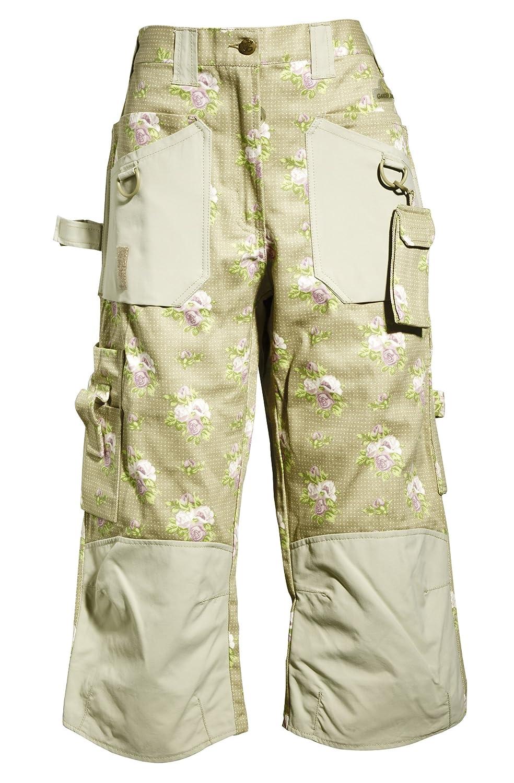 Garden Girl GGMK0532 3/4 Roses Pattern Trousers -6 UK (32 EU) GardenGirl 3/4 Trousers