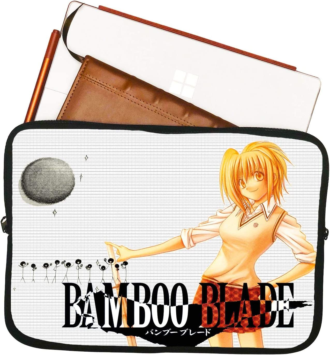 Bamboo Blade Anime Laptop Sleeve Bag Mousepad Surface Case 13 13.3 Anime Computer Bag Laptop Sleeve Tablet Laptop//Tablet Water Repellent Neoprene Cushioned Case