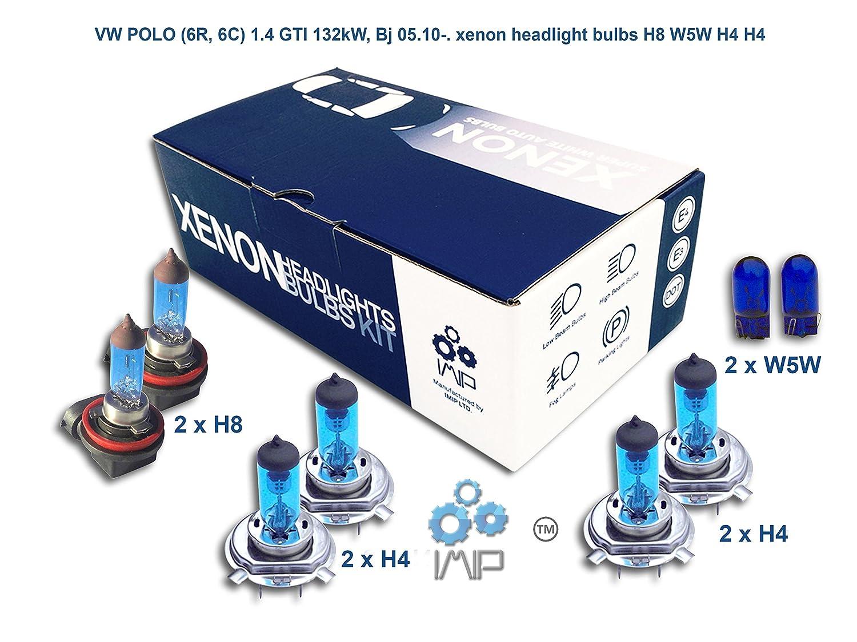 Helle Xenon-Scheinwerferbirnen einfach einsetzbar Paare mit H8 H4 H4 mit gratis Seitenlichtbirnen Zum Selbsteinsetzen