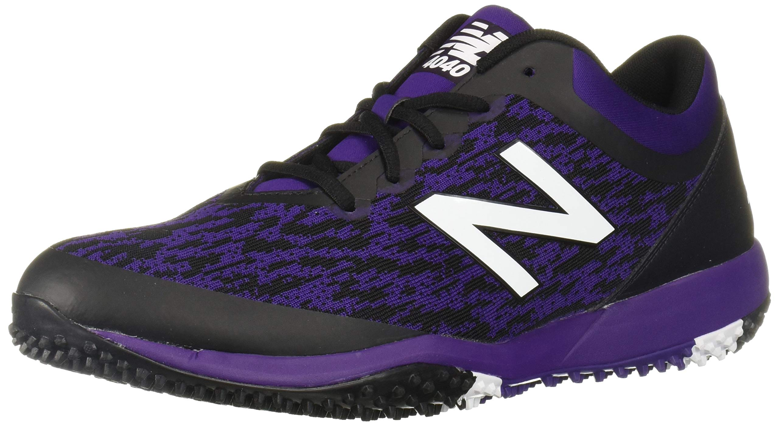New Balance Men's 4040v5 Turf Track and Field Shoe, Black/Purple, 5 D US