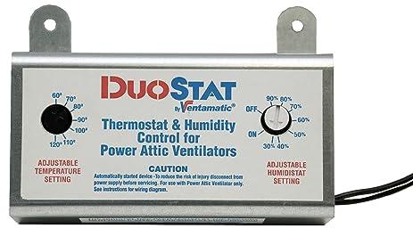 Ventamatic xxduostat adjustable dual thermostathumidistat control ventamatic xxduostat adjustable dual thermostathumidistat control for power attic ventilators sciox Choice Image