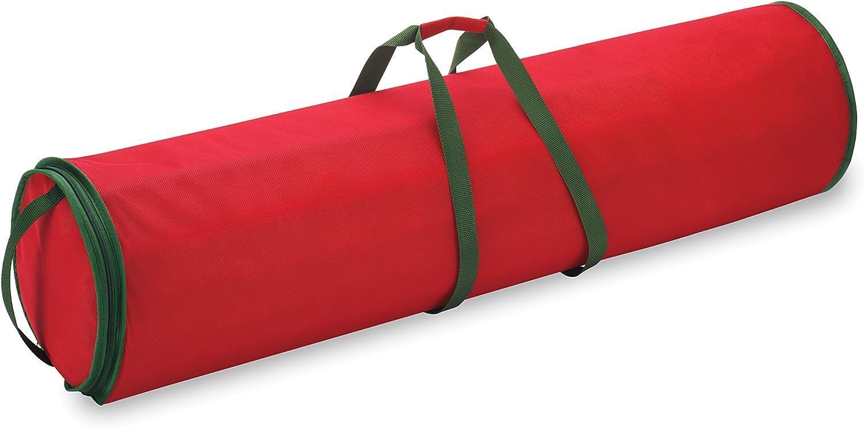 wei/ß//gr/ün com-four/® Geschenkpapier Aufbewahrung Geschenkpapiertasche Aufbewahrung f/ür Geschenkpapierrollen Geschenkpapier Organizer