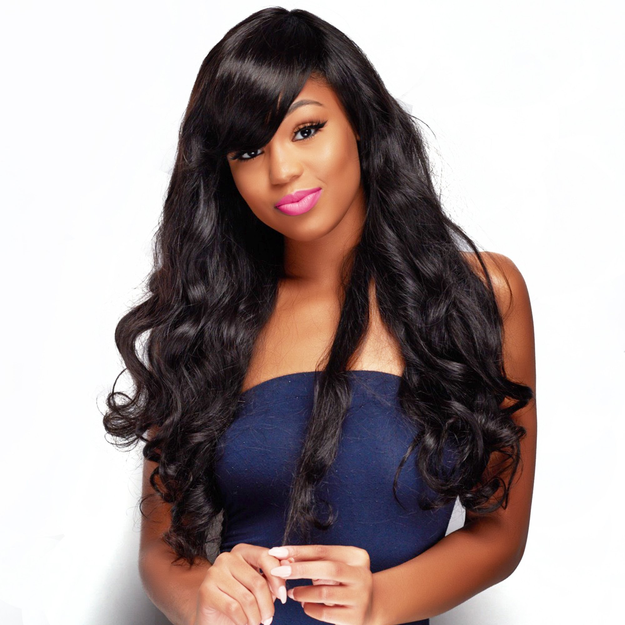 Unice Hair 18 20 22inch Brazilian Virgin Human Hair Weave 3 Bundles Deal Brazilian Body Wave Hair Weft Extensions Natural Color by UNICE (Image #2)