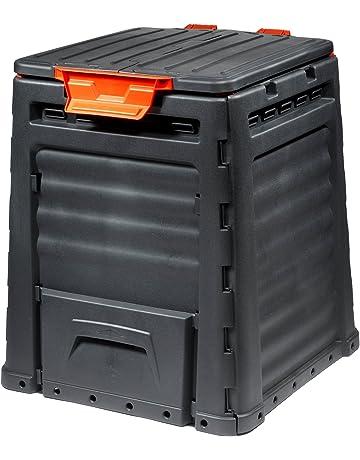 Keter - Compostador ECO, con capacidad de 320 L. Color gris oscuro