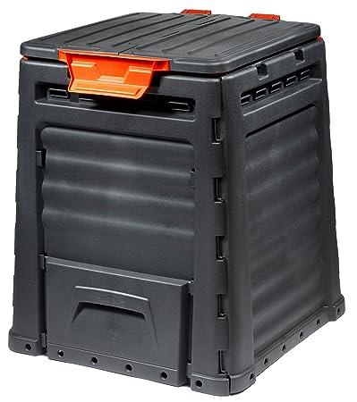 Keter - Compostador ECO, con capacidad de 320 L, Color gris oscuro: Amazon.es: Jardín