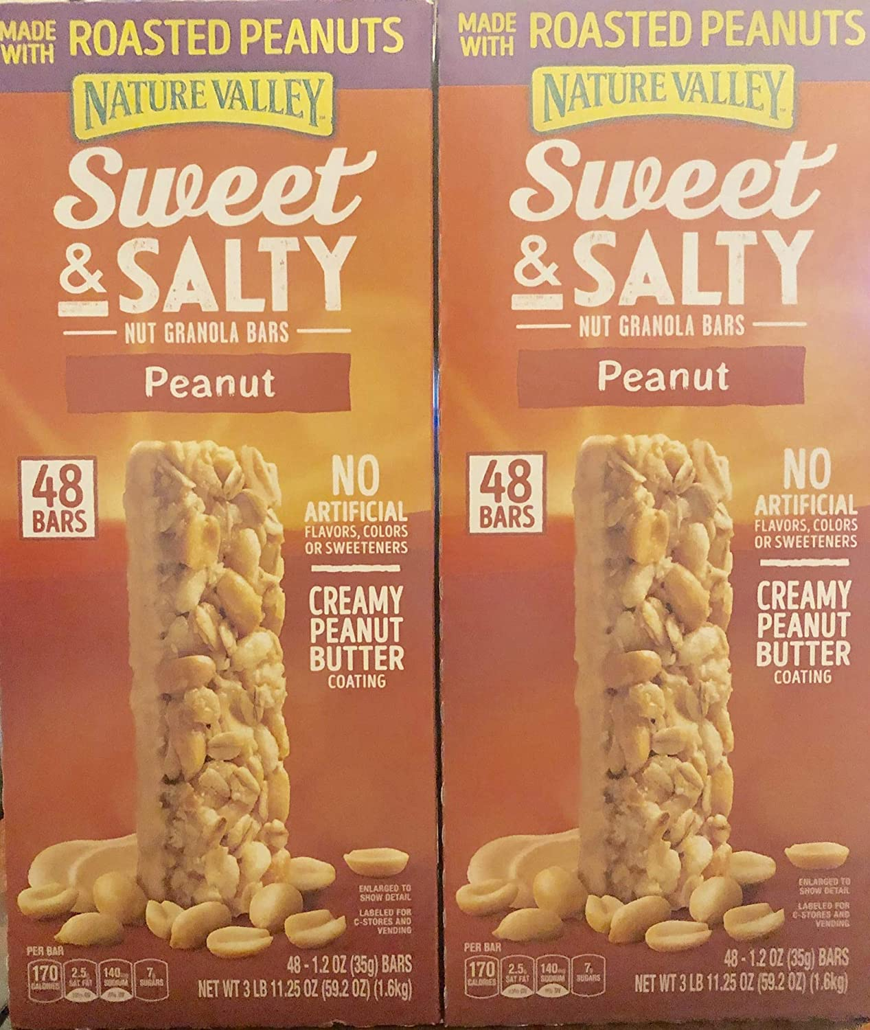 Nature Valley Sweet & Salty Nut Granola Peanut Bars( 2 PACK OF 48ct 1.2oz IN Each Box )