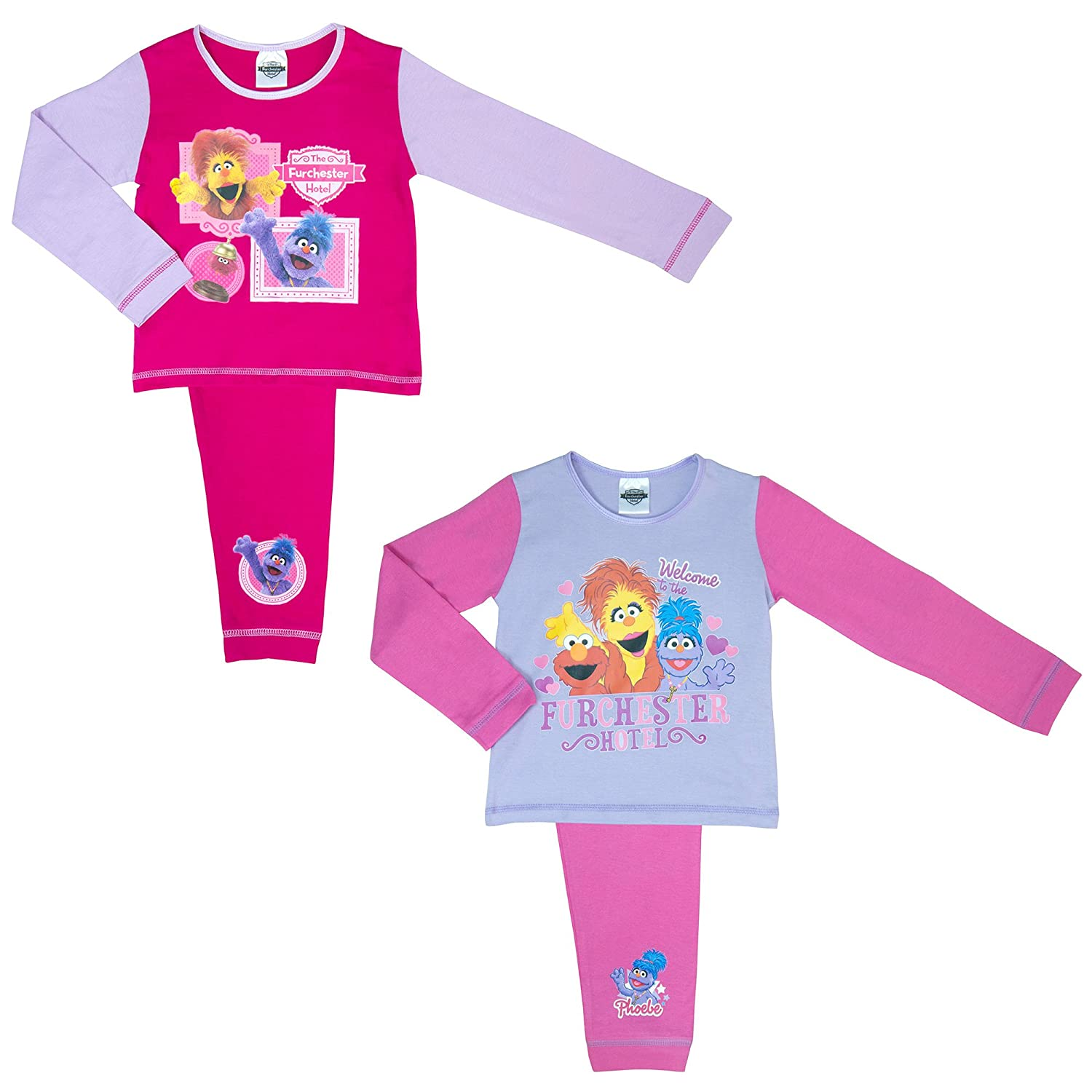 Cartoon Character Products 2 Pack Furchester Hotel Girls Pyjamas - 18 Months to 5 Years