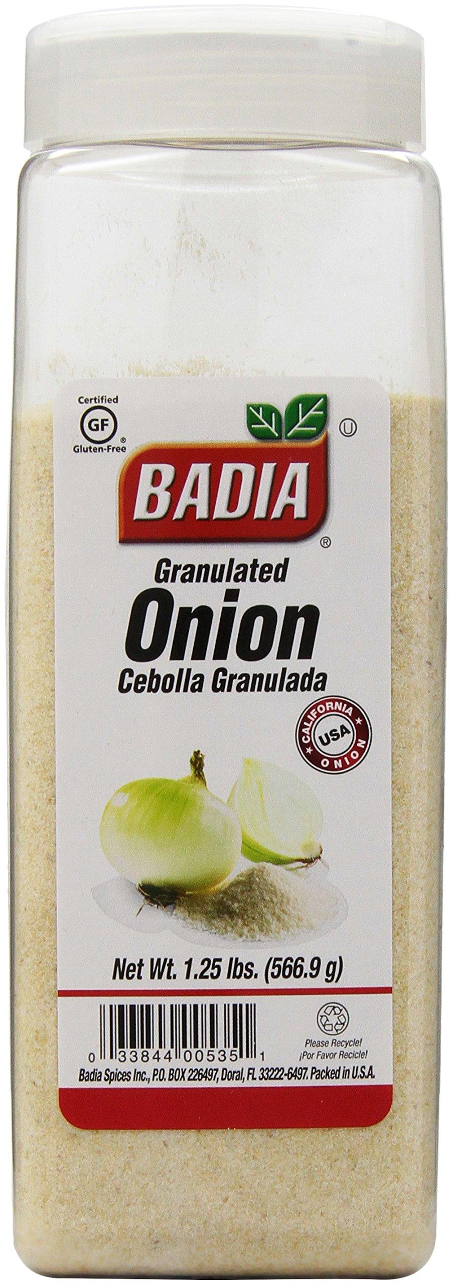 Badia Onion Granulated, 1.25 Pound (Pack of 6)