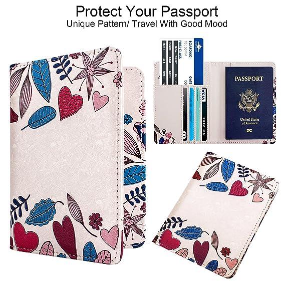 WALNEW funda para pasaporte de viaje pasaporte tarjetas Carrier ...