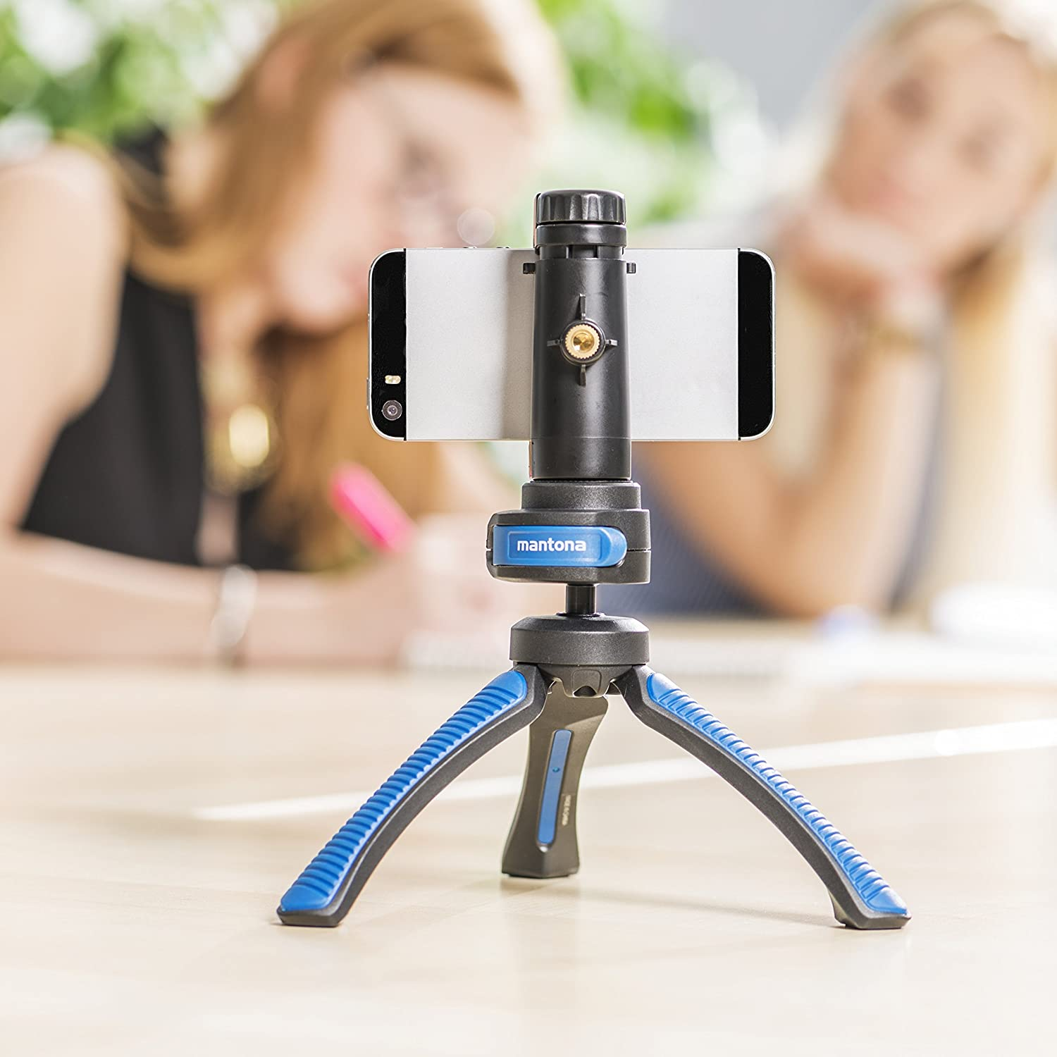 Spirit Level and Hands Chlafe/ /1//4/Inch Connector /Ocean Blue Mantona Kaleido Mini 3-Leg Table and Hand Tripod with Ball Head/