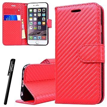 WE LOVE CASE Funda iPhone 6 Plus, Piel y Tipo Cartera ...