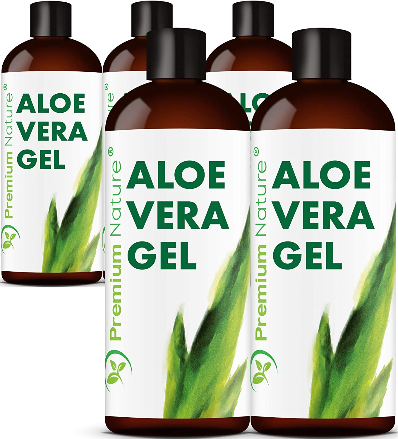 Pure Aloe Vera Gel Lotion- For Face & Dry Skin t Cold Sore Scar After Bug Bite Sunburn Relief Rash Razor Bump DIY Body Lotion Skincare Moisturizer Packaging May Vary5pk