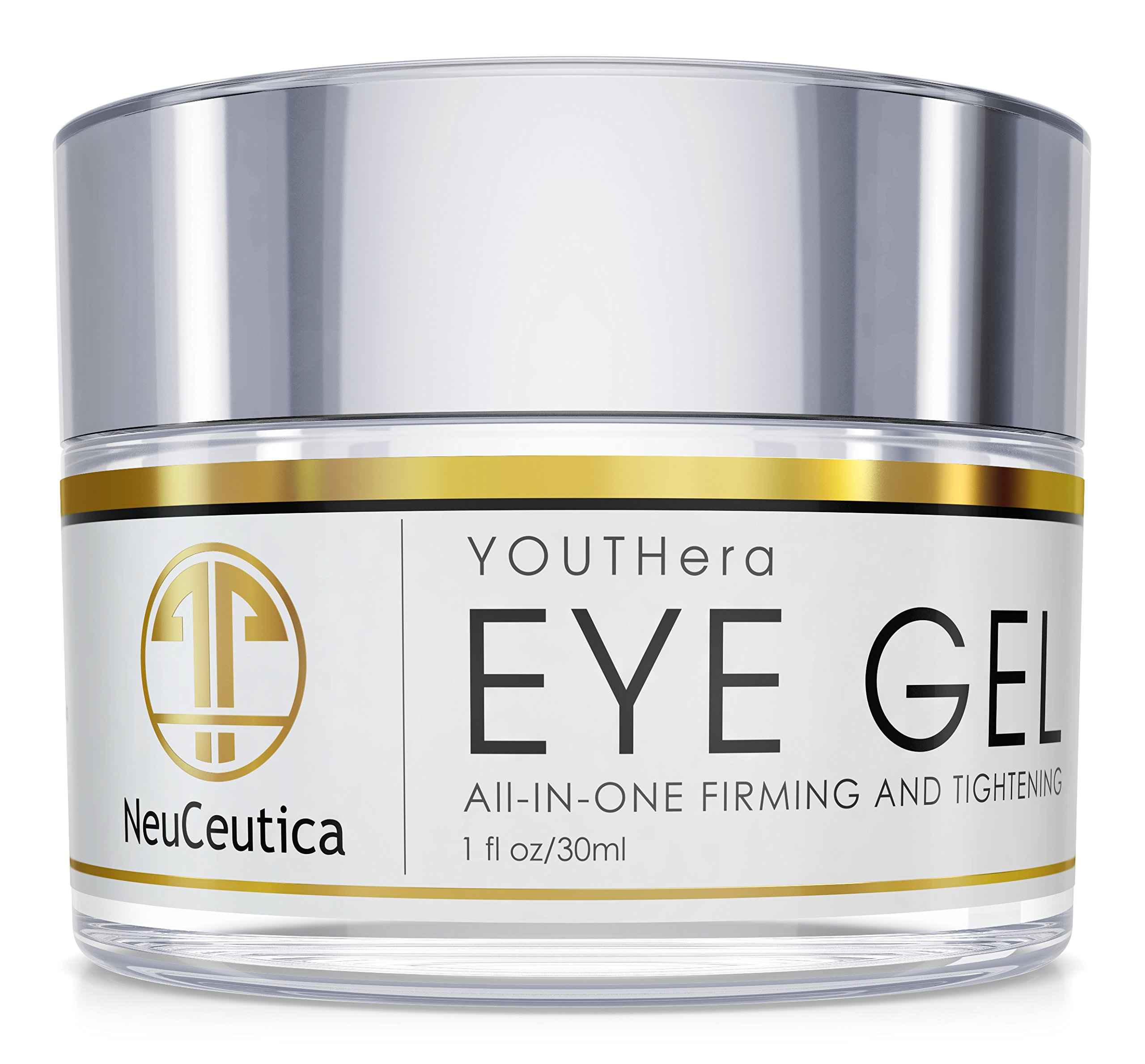 Neuceutica Eye Gel - For Reduction Of Fine Lines, Dark Circles With Matrixyl 3000, Hyaluronic Acid, Peptides, 1oz