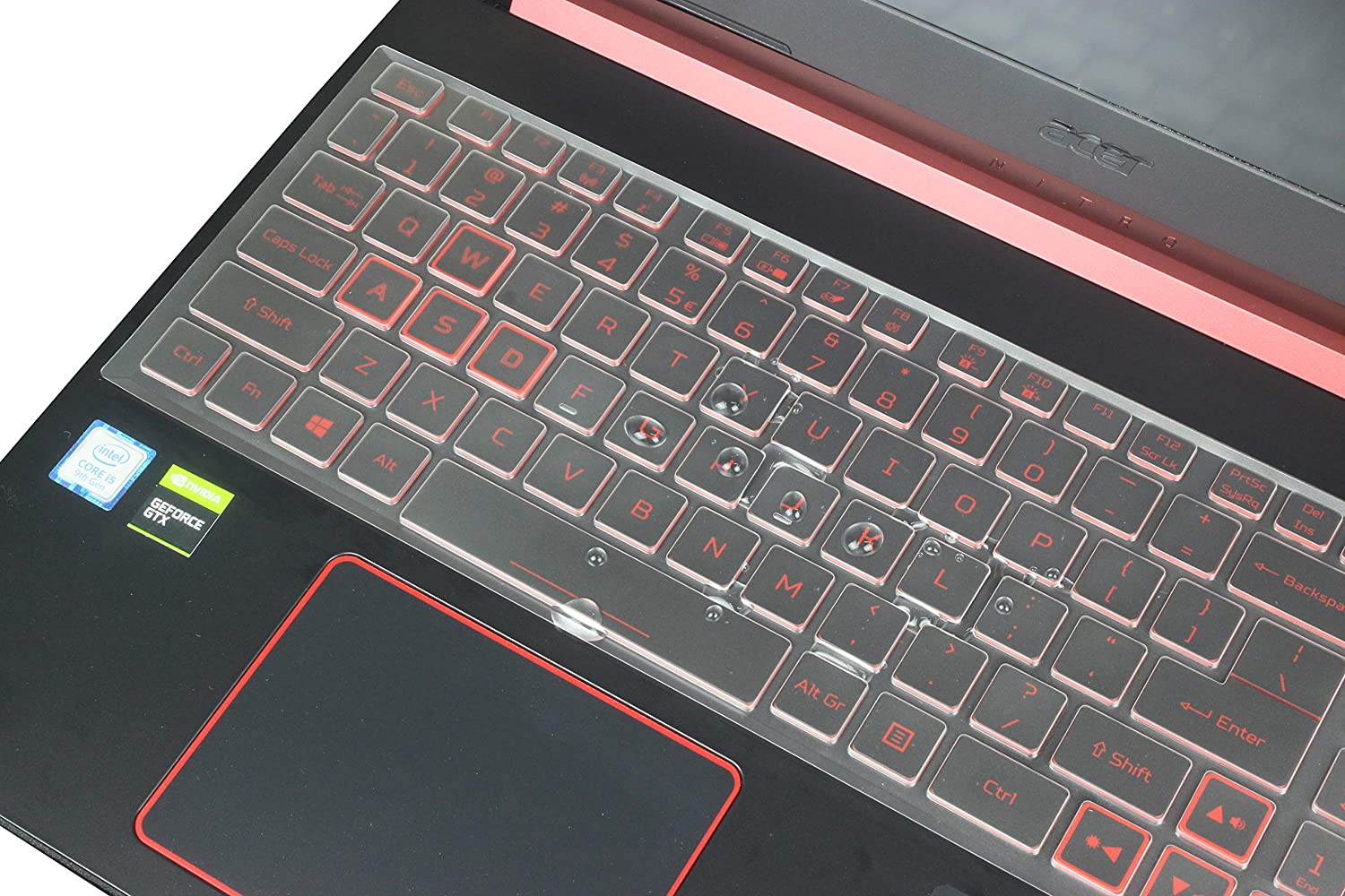 """Leze - Premium Keyboard Skin Cover Compatible with 15.6"""" Acer Nitro 5 AN515-54-54W2, AN515-54-51M5,17.3"""" Acer Nitro 5 AN517-51,AN715-51 Gaming Laptop - TPU"""