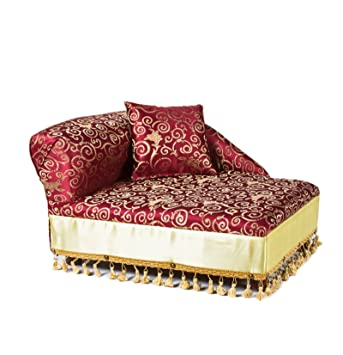 Amazon Com Keet Mini Chaise Elegant Red Pet Bed Dog Sofa Bed