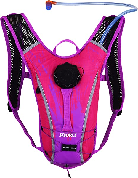 Source Outdoor Spinner NC 1.5L Hydration Pack, Youth, Purple ...