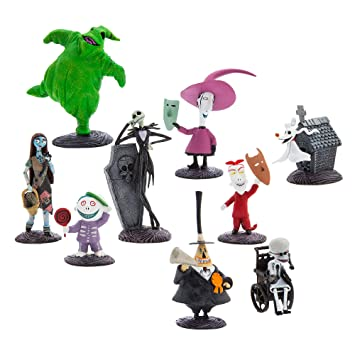 Disney Official Store The Nightmare Before Christmas Deluxe Figurine  Figures Set
