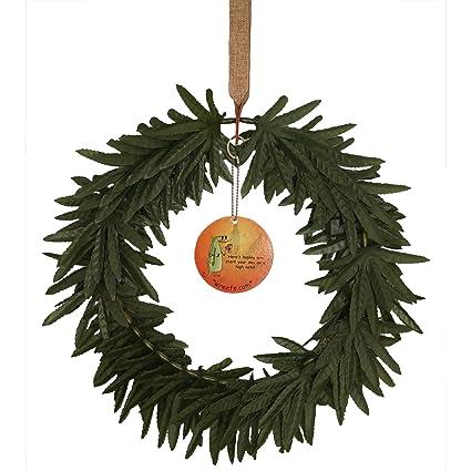 wreefs decorative artificial marijuana wreath 420 friendly marijuana decor cannabis gifts advocacy events