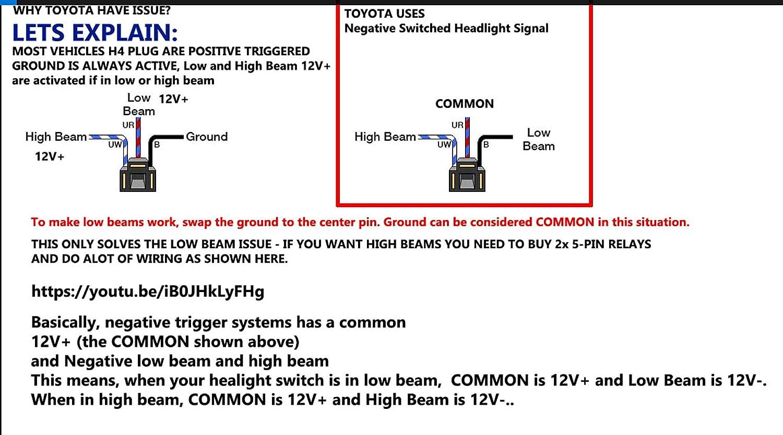 7x6 H6054 Led Rectangular Headlight Hi Lo Headlamp For Gmc Topkick C4500 Wiring C5500