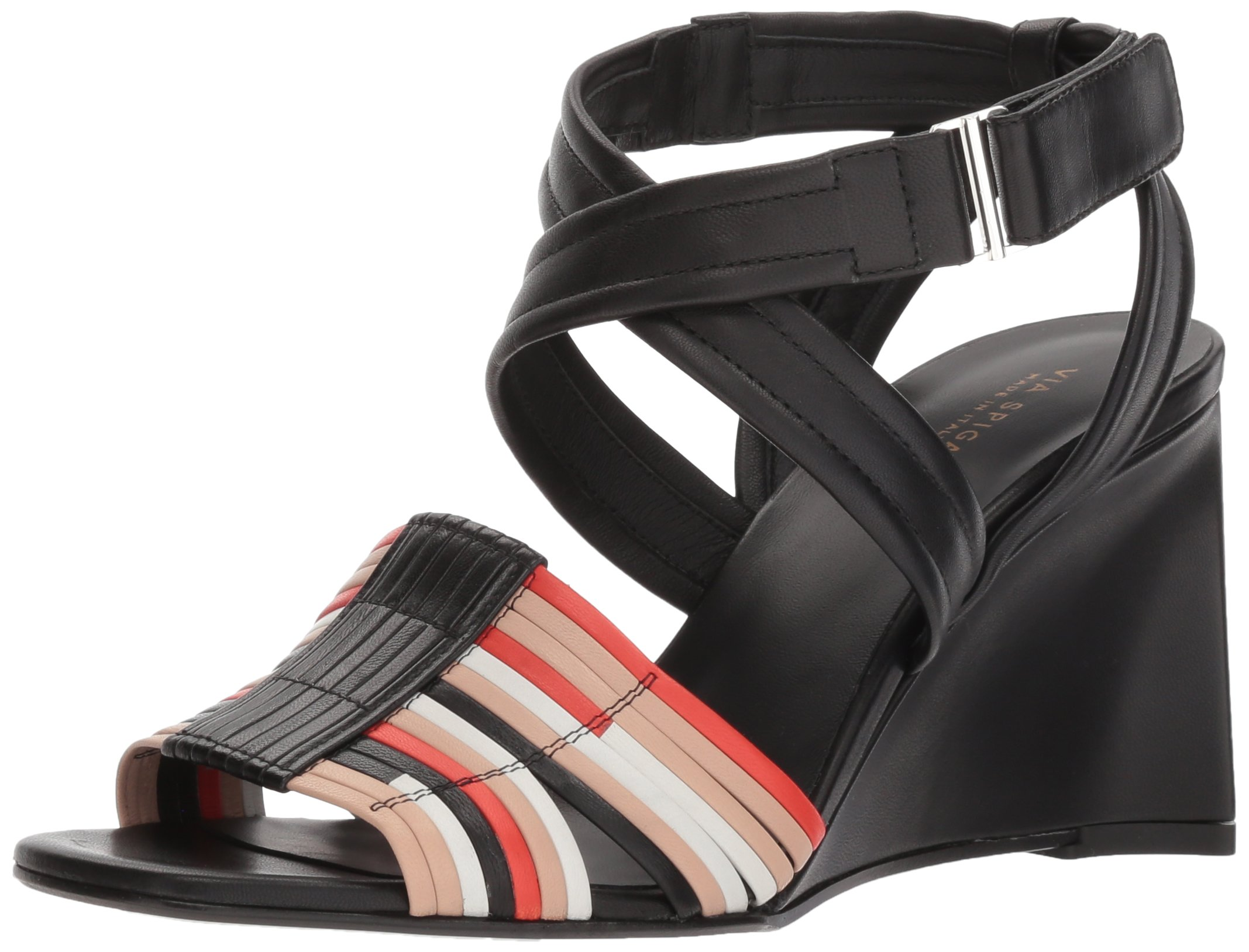 Via Spiga Women's Robyn Woven Wedge Sandal, Multicolor Leather, 9 Medium US