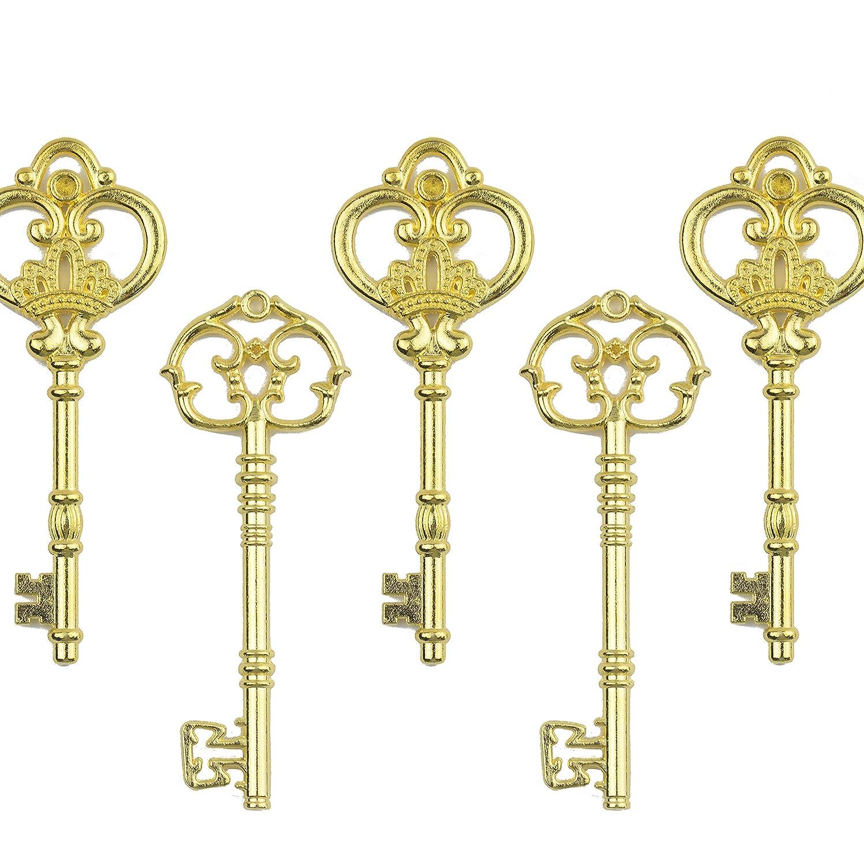 Amazon.com: Mixed Set of 20 Extra Large Antique Skeleton Favor Keys ...