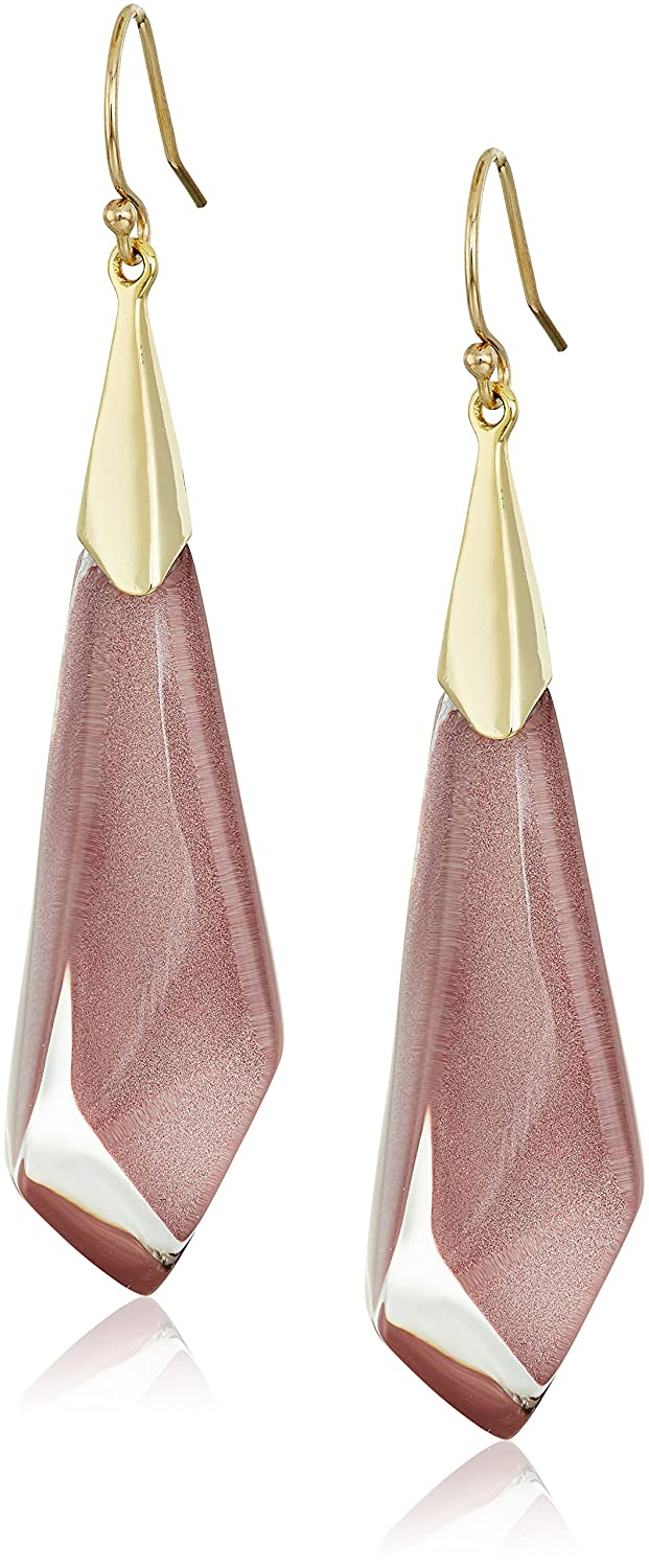 Alexis Bittar Faceted Wire Blue Moss Drop Earrings