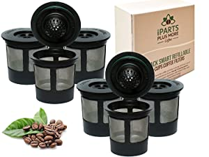 6 Reusable Single Cup Keurig Solo Filter Pod Coffee Stainless Mesh iPartsPlusMore