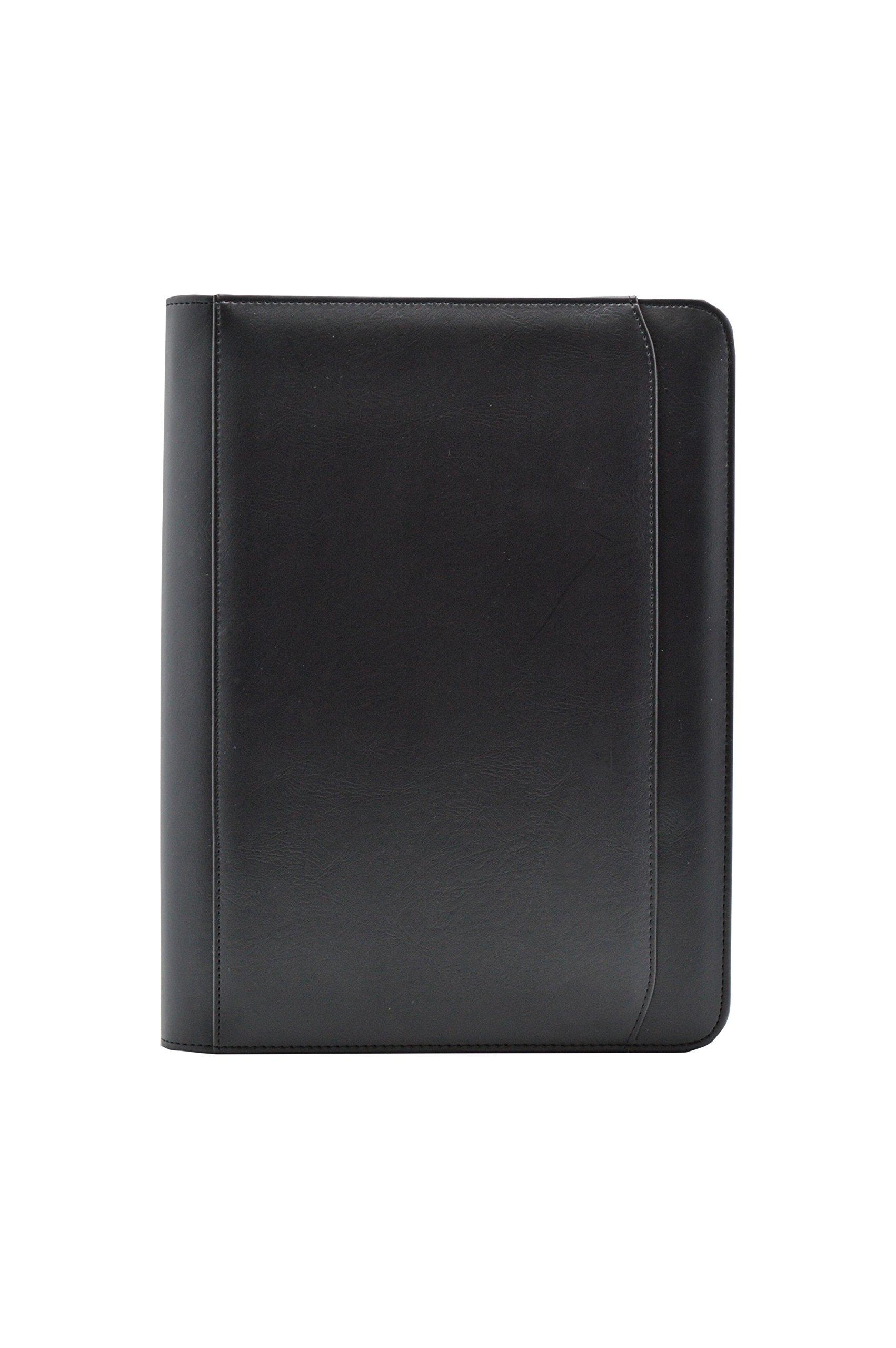 Bindertek 3-Ring 1-inch Zipper Binder Organizer, Black (ZP-Bind)