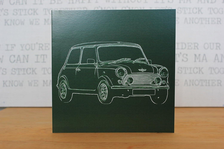 Austin Mini Cooper Greeting Card Retro Motor Company Amazon
