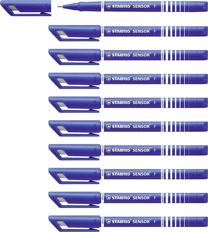 ähnlich wie Stabilo 10 Fineliner blau 0,4 mm fein